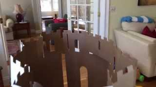Easy Playhouse Castle Review - Pre-cut Cardboard Box Castle..