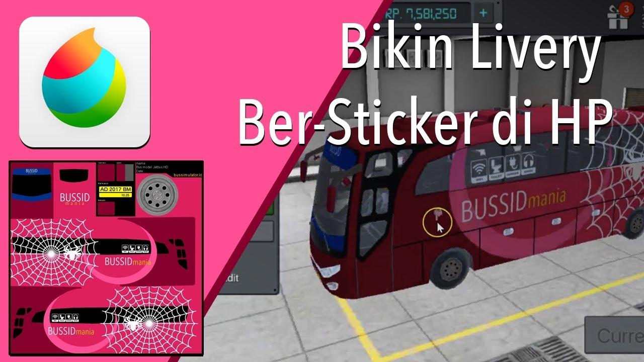 Tutorial edit livery bus simulator indonesia