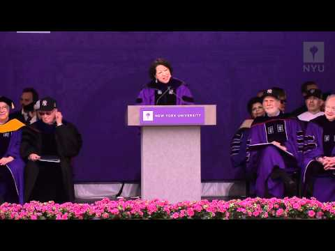 NYU 2012 Commencement--Justice Sotomayor
