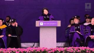 NYU 2012 Commencement--Justice Sotomayor