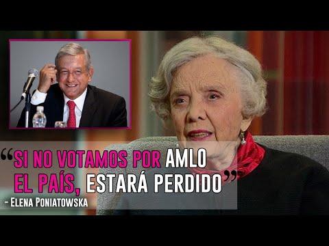 """""""Si no votamos por López Obrador, el país estará perdido"""": Elena Poniatowska"""