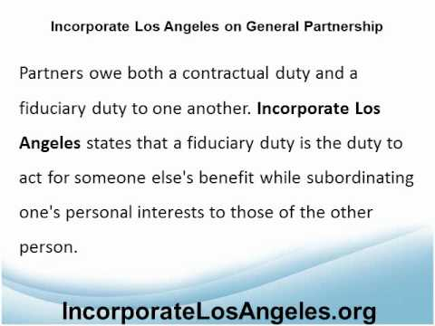 Incorporate Los Angeles Procedures on General Partnership