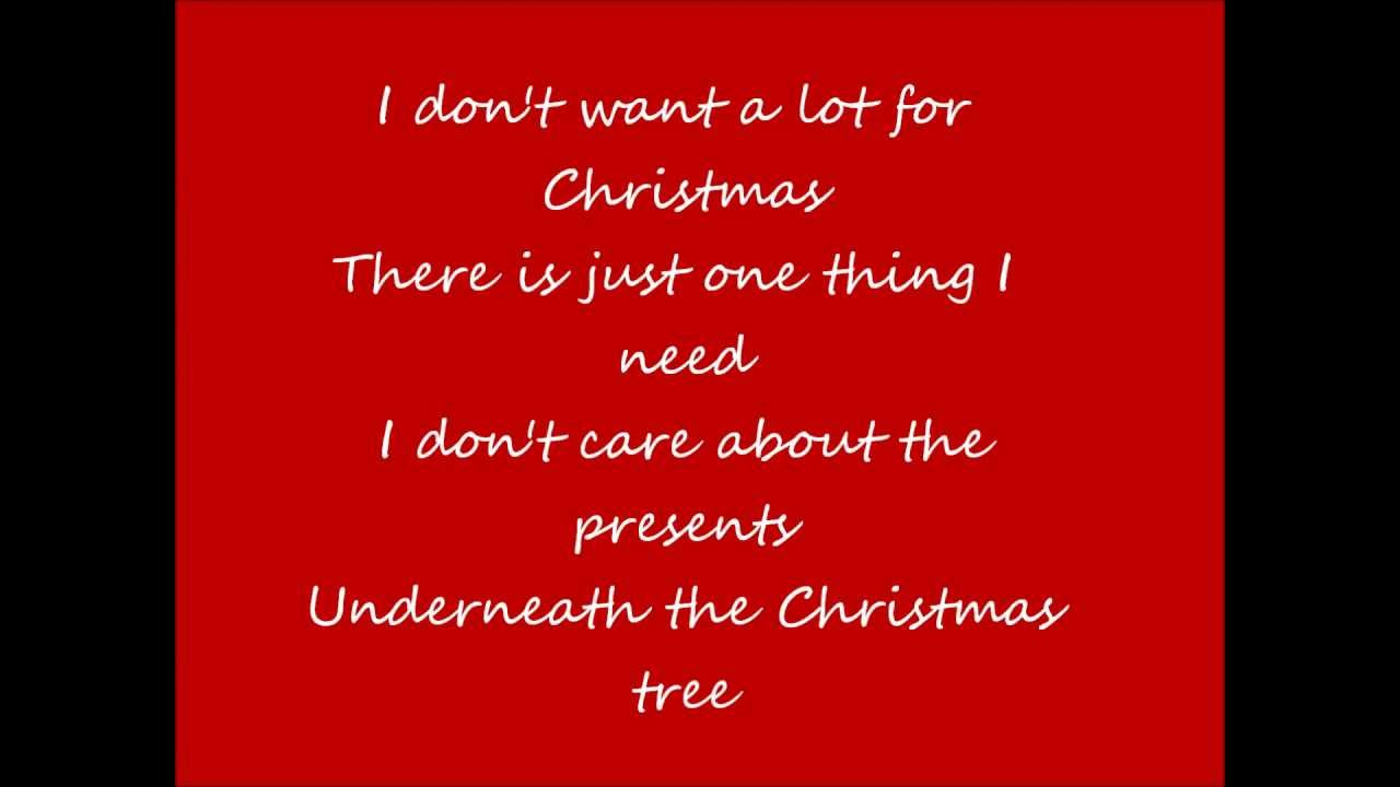all i want for christmas is you by mariah carey lyrics - I Dont Want Alot For Christmas Lyrics