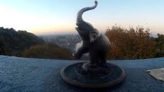 Ukrainian-Russian Friendship Arch & Elephant Sculpture in Kiev, Ukraine