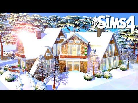 MODERNA Y BONITA CABAÑA INVERNAL | Los Sims 4 Speed Build thumbnail