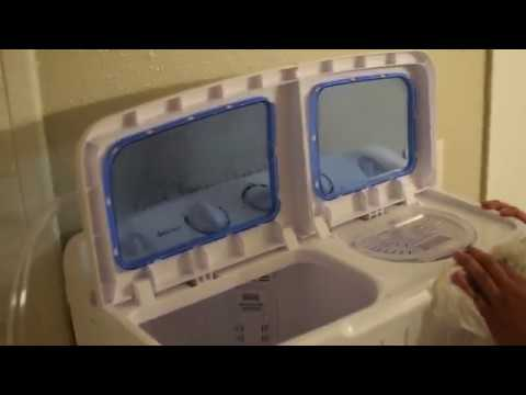 Hooking up a portable washing machine