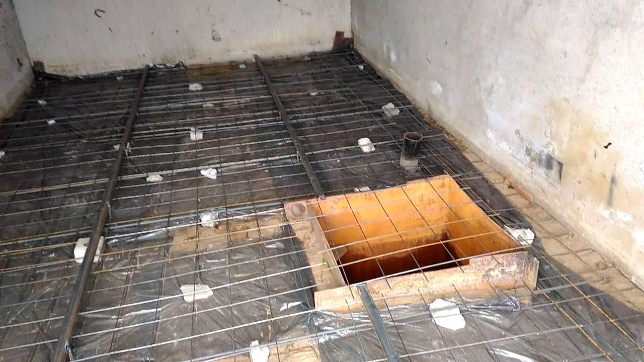 Заливаем пол бетоном приготовить строительный раствор