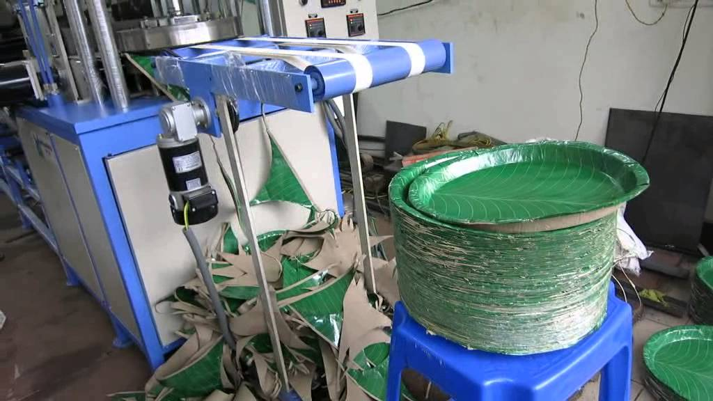 Fully Automatic paper plate making machine - YouTube