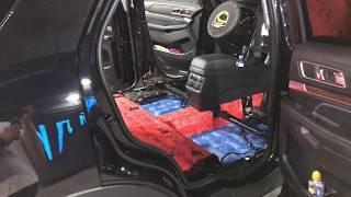 Ford Explorer шумка частичная. Обесшумливали пол (днище) и крышу (потолок) материалами Комфортмат