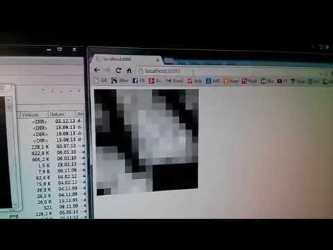 Optical Mouse as Arduino Web Camera