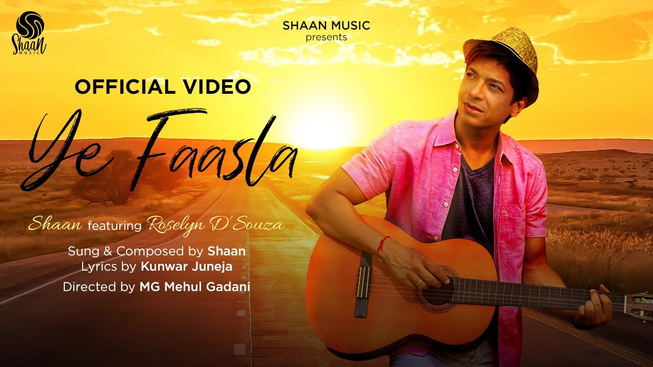 Ye Faasla (Official Lyrical Video)   Shaan feat. Roselyn D'Souza   Lockdown Love Song 2021