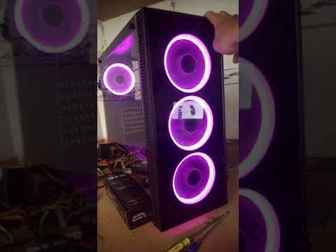 Case Sama Dark Shadow +Fan AIGO RGB - XGEAR.VN