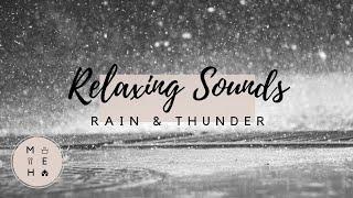 Relaxing Sounds: Rain and Thunder  No Talking VLOG  Make Eat Home