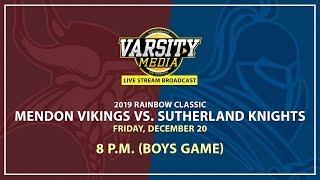 Section V Boys BKB: Mendon vs. Sutherland (12/20/2019)