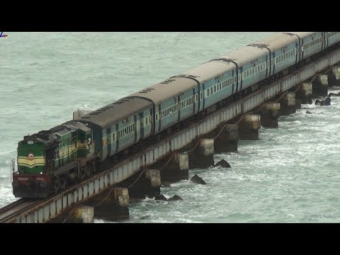 Train crossing Pamban