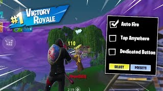 Win using Only AUTO FIRE - Fortnite Mobile Challenge