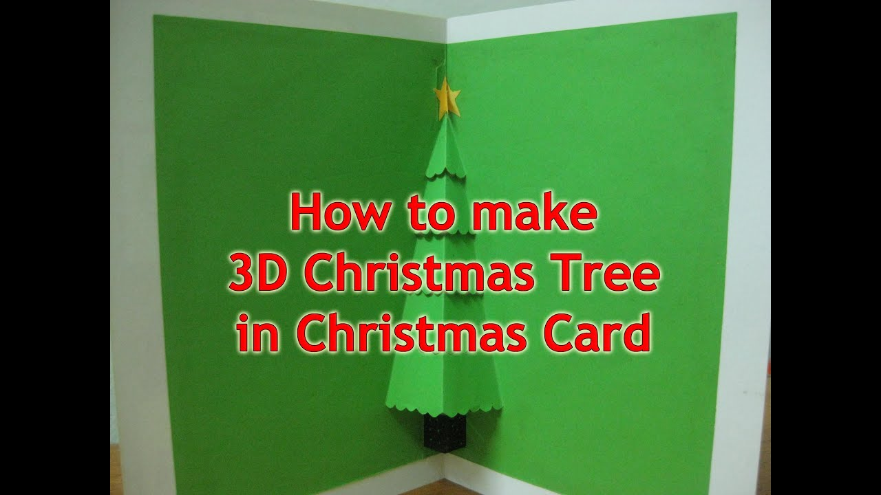 card how to make 3d christmas tree in christmas card