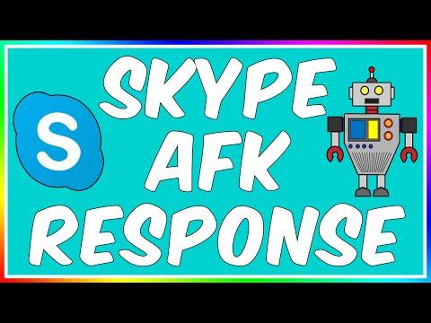 How To: Make A Skype AFK Bot! (Auto Response)