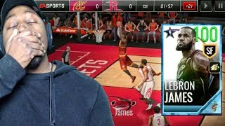 100 OVR PLATINUM LEBRON JAMES DUNKING IN LEAGUE GAME! NBA Live Mobile 18 Pack Opening Ep. 37