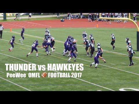 Toronto Thunder vs. Oshawa Hawkeyes - Pee Wee Football 2017 - OMFL