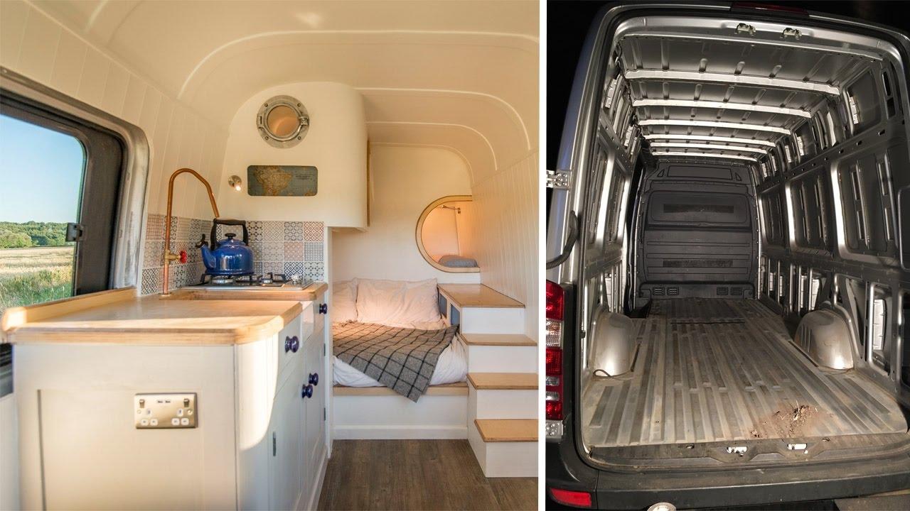 Family Transform Old Van Into Dream Camper
