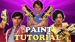 Power Rangers Dino Charge Gaburevolver Morpher Paint Tutorial