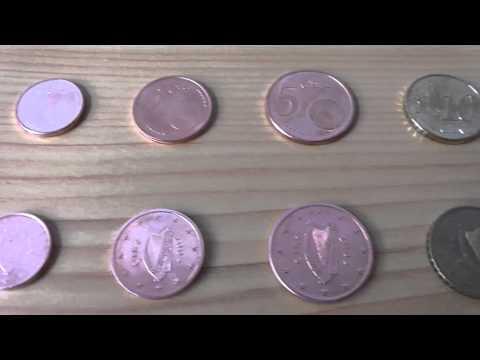 All euro coins of Ireland - Alle Euro Münzen aus Irland in HD