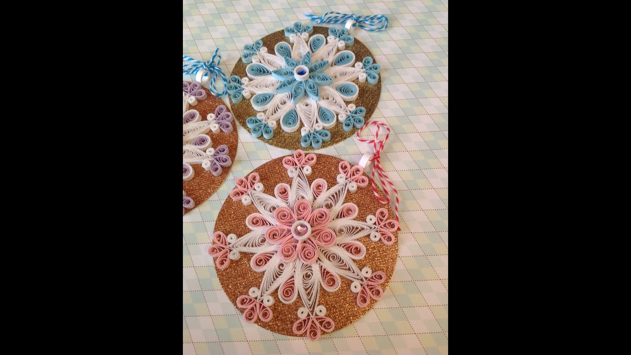 Quilling Snowflakes - YouTube