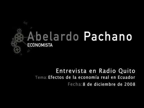 Abelardo Pachano - Radio Quito Efectos de la economía real en Ecuador - 8 diciembre 2008