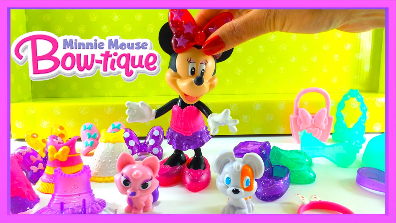 disney minnie mouse minnies best friends bow tique dress up play set by fisher price