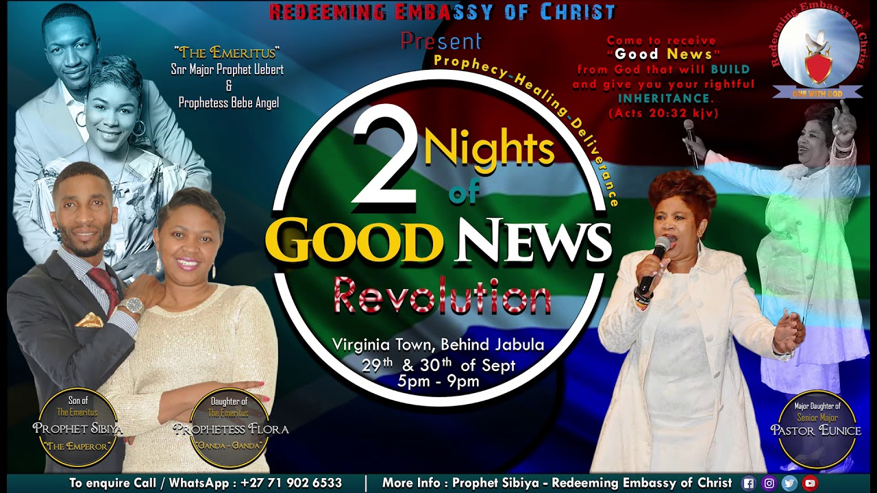 Download Two Nights of Good News Revolution - Prophet Sibiya R.E.C.