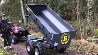 23-TV10H Tippvagn ATV 1420 kg med elhydraulisk tipp