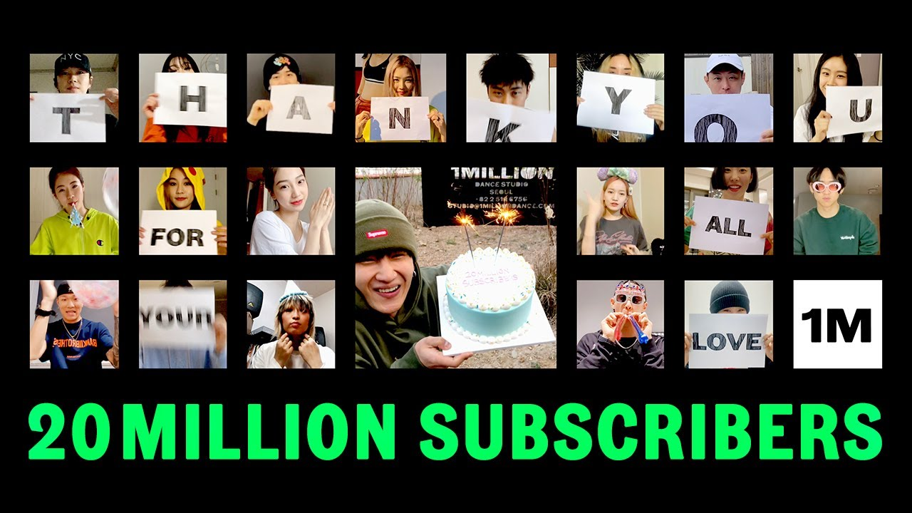 Thank you for 20 Million subscribers!