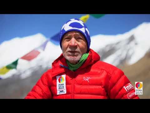 Imágenes de la Expedición IFEMA-Carlos Soria  entre el CI y CII del Dhaulagiri