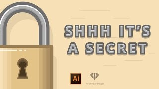 Padlock icon for user interface. Adobe Illustrator speedart #3