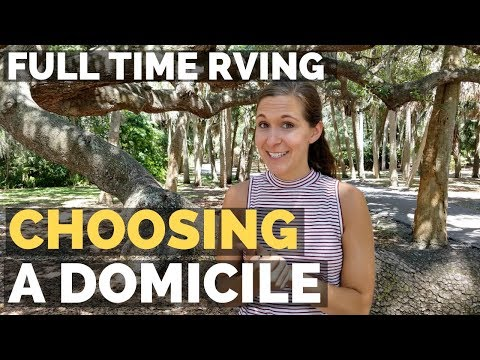 Getting a Permanent Address & Choosing a Domicile State | Full Time RV Living