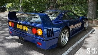 Blue Ferrari F40 with Tubi Exhaust - Onboard Ride and Drive-bys