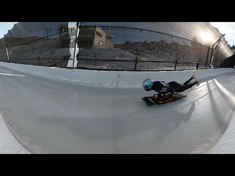 Headfirst and inches from the ice, skeleton athletes fly