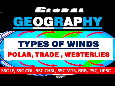 best GEOGRAPHY lectures TYPES OF WINDS | SSC JE 2017, CGL, CHSL, MTS, UPSC,RRB |general awareness