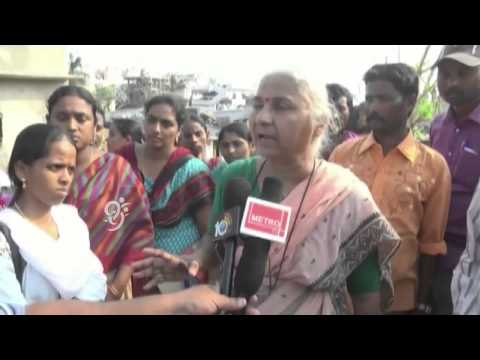 Medha Patkar : Announce Special Package for Slums says in Visit to Cyclone Hit Vishaka - 99tv