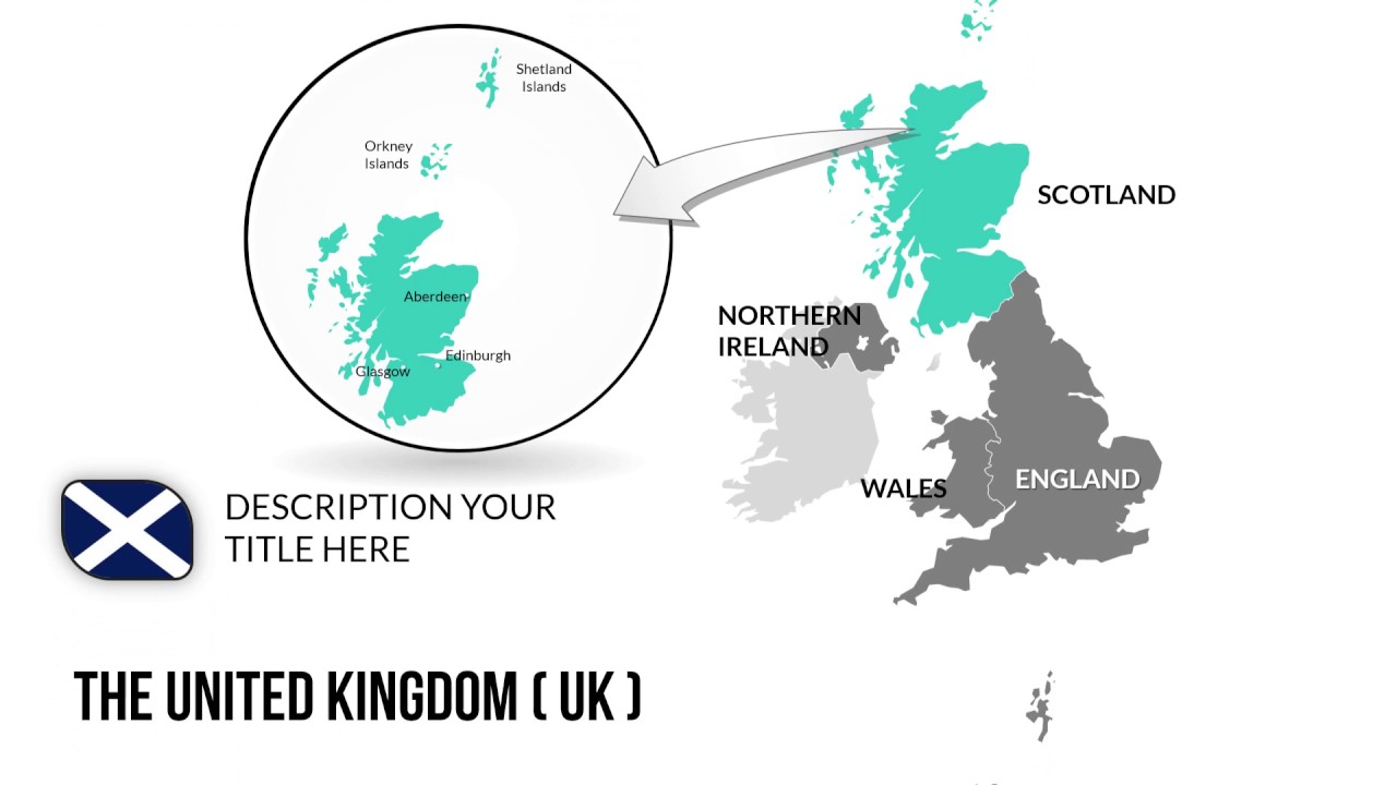 United Kingdom  UK  Map PowerPoint Presentation  PowerPoint