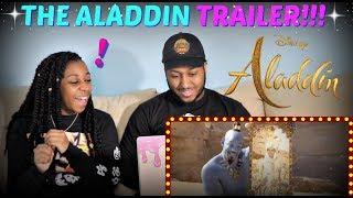 "Disney's ""Aladdin"" Official Trailer REACTION!!!"