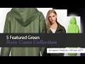 5 Featured Green Rain Coats Collection Amazon Fashion, Winter 2017
