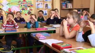 Фізкультхвилинка у 1-4 класах Золочівського НВК