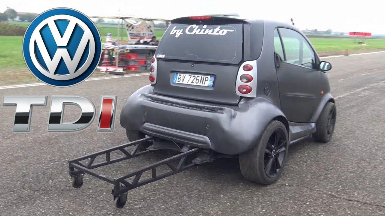 Smart Car Engine >> Smart Car Drag Build Feat Vw 1 9 Tdi Engine Swap Smoking On The