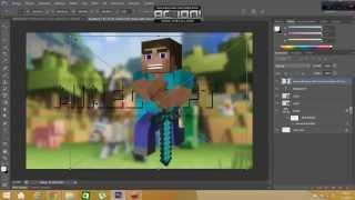 Minecraft Kanal Kapak Fotoğrafı Yapımı + Photoshop PSD