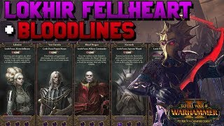 Lokhir Fellheart FLC Revealed + Vampire Count Blood Lines!! (Blood Dragons) | Total War: Warhammer 2