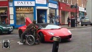 Lamborghini Aventador Driver VS Disabled Man!