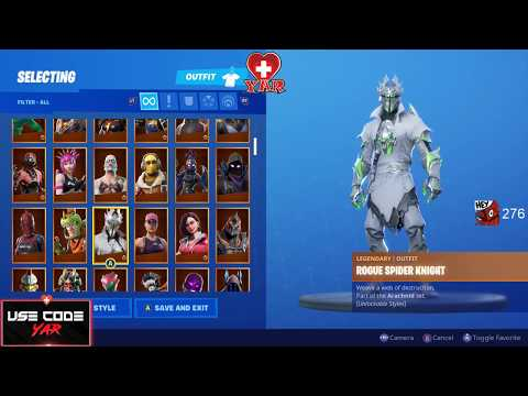 REDEEMING ROGUE SPIDER KNIGHT BUNDLE NEWEST/RAREST EXCLUSIVE XBOX ONE SKIN IN FORTNITE