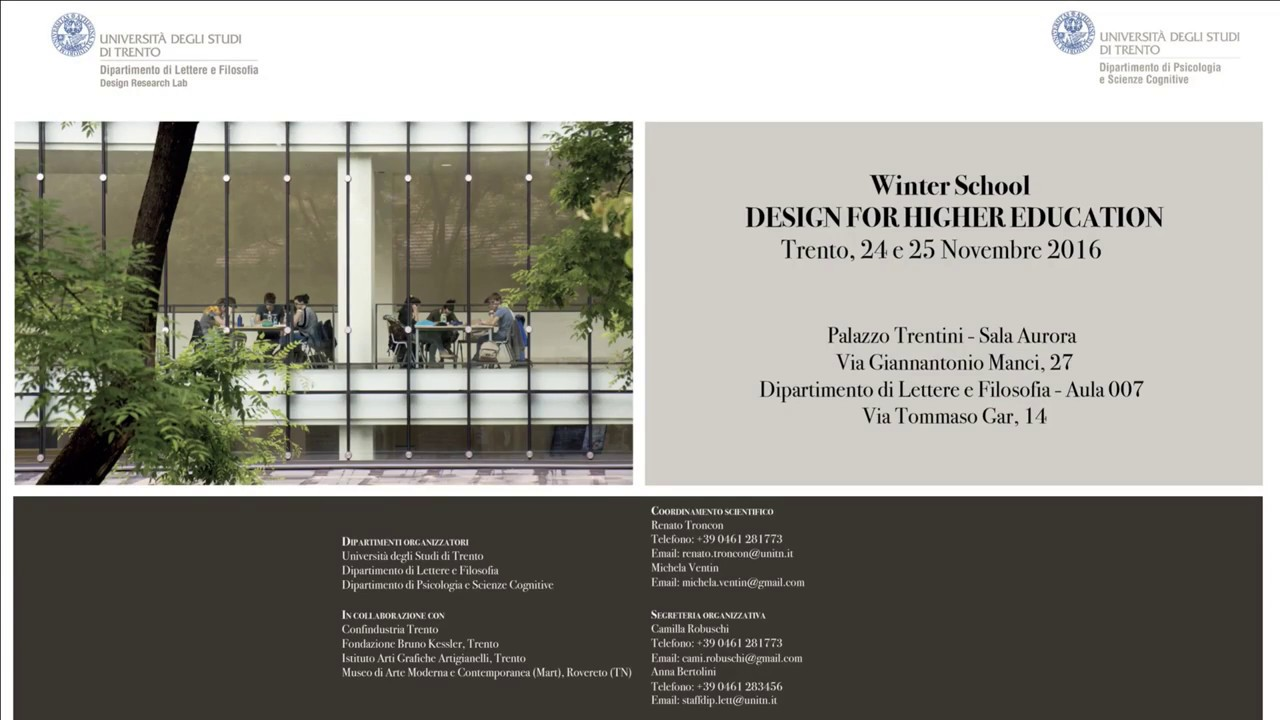 winter u201cdesign for higher education u201d 25 november 2016